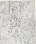 Original Comic Art:Miscellaneous, Frank Brunner Pan Preliminary Artwork Original Art(1981)....