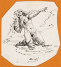 Original Comic Art:Sketches, Roy G. Krenkel - Nude Sketch Original Art (undated)....