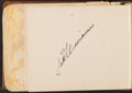 Baseball Collectibles:Others, 1951 Baseball Stars Signed Autograph Book....