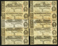 Confederate Notes:1863 Issues, T60 $5 1863 Ten Examples. ... (Total: 10 notes)