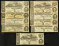 Confederate Notes:1863 Issues, T60 $5 1863 Nine Examples.. ... (Total: 9 notes)