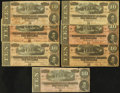 Confederate Notes:1864 Issues, T68 $10 1864 Seven Examples.. ... (Total: 7 notes)
