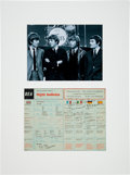 Music Memorabilia:Autographs and Signed Items, Beatles Signed (with Jimmie Nicol) BEA In-Flight Bulletin (June 7,1964), in Matted Display. ...