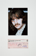 Music Memorabilia:Autographs and Signed Items, Beatles - Ringo Starr Signed Apple Records Check (UK, November 24,1970), in Matted Display. ...