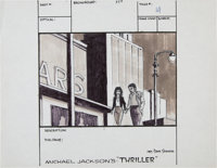 "Michael Jackson - ""Thriller"" Storyboard Production Drawing (1983)"