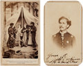 Photography:CDVs, Union Signed Carte de Visite of J. G. Dickinson & the Capture of Jeff Davis.... (Total: 2 Items)