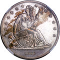 1838 P$1 Name Omitted, Judd-85 Restrike, Pollock-94, High R.7, PR64 NGC....(PCGS# 11354)