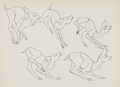 animation art:Model Sheet, Retta Scott Bambi Movement Test Sheets Group of 4 (WaltDisney, 1942).... (Total: 4 Items)