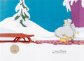 Animation Art:Production Cel, Doctor Seuss' How the Grinch Stole Christmas Production Celand Animation Drawing (MGM, 1966).... (Total: 2 Items)