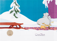 Doctor Seuss' How the Grinch Stole Christmas Production Cel and Animation Drawing (MGM, 1966).... (Total: 2 Items)
