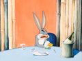 Animation Art:Production Cel, What's Cookin' Doc? Bugs Bunny as Edward G. RobinsonProduction Cel on Custom Background Setup (Warner Brothers,1944)...