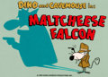 "Animation Art:Production Cel, Flintstones Comedy Show ""Maltcheese Falcon"" Title ProductionCel Setup (Hanna-Barbera, 1981)...."