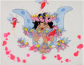 Animation Art:Production Cel, Wizards Elinore with Fairies Production Cel Setup (RalphBakshi, 1977)....