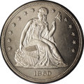 Proof Seated Dollars: , 1860 $1 PR62 PCGS. Although 1,330 proofs were produced this year,many were subsequently melt...