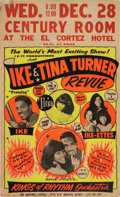 Music Memorabilia:Posters, Ike & Tina Turner Century Room Concert Poster (circa Early1960s)....