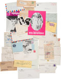 Movie/TV Memorabilia:Documents, A Mae West Massive and Important Archive of Documents,1920s-1970s.... (Total: 6 Items)