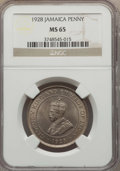 Jamaica:British Colony, Jamaica: British Colony. George V Penny 1928 MS65 NGC,...