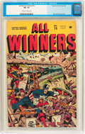 Golden Age (1938-1955):Superhero, All Winners Comics #15 (Timely, 1945) CGC FN- 5.5 Off-white to white pages....