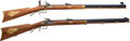Long Guns:Muzzle loading, Lot of Two Contemporary Half-Stock Percussion Rifles.... (Total: 2Items)