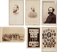 Group Lot of Six Confederate Notables Including Generals Carte de Visites