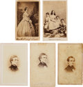 Photography:CDVs, Group of Five Carte de Visites of Jeff Davis & his Family.... (Total: 5 )