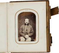 Civil War Cartes de Visite Album With 15 Identified Union Soldiers From Connecticut Regiment