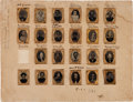 Photography:Tintypes, Fantastic Collection of Gem Size Tintypes of the Prominent GriswoldFamily of Connecticut, Including Soldier Three Civil War S...