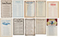Miscellaneous:Ephemera, Group Lot of Two Confederate and Eight Union Civil War Period SongSheets. Includes:. ...