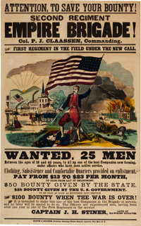 New York Empire Brigade Recruiting Broadside