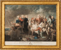 """Military & Patriotic:Revolutionary War, Color Lithograph: """"The Burial of General Fraser"""" After a Work byJohn Graham (1754-1817)...."""