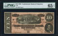 Confederate Notes:1864 Issues, T68 $10 1864 PF-38 Cr. 550.. ...