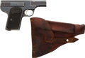 Handguns:Semiautomatic Pistol, Armand Gavage Semi-Automatic Pistol with Leather Holster....
