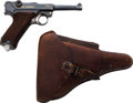Handguns:Semiautomatic Pistol, German Simson & Co. Luger 1925 Dated Semi-Automatic Pistol with Leather Holster....