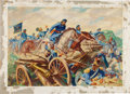 Art:Illustration Art - Mainstream, Mexican War: Captain May at Resaca de la Palma Illustration Art....