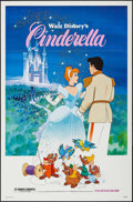 """Movie Posters:Animation, Cinderella (Buena Vista, R-1973/R-1981). One Sheet (27"""" X 41"""")& Trimmed One Sheet (25.75"""" X 39""""). Animation.. ... (Total: 2Items)"""