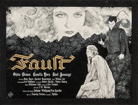 """Faust by Timothy Pittides (Timothy Pittides, 2016). Autographed Numbered Limited Edition Screen Print Poster (18"""" X..."""