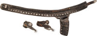 Superb Vintage Bohlin Tooled Gun Belt, Holster and Spurs
