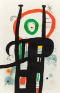 Prints, Joan Miró (1893-1983). Le Grand Ordinateur, 1969. Etching, aquatint, and carborundum in colors on Arches paper. 39-3/8 x...