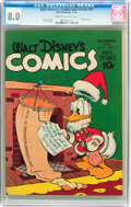 Golden Age (1938-1955):Cartoon Character, Walt Disney's Comics and Stories #51 (Dell, 1944) CGC VF 8.0 Cream to off-white pages....