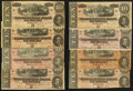 Confederate Notes:1864 Issues, T68 $10 1864 Eight Examples.. ... (Total: 8 notes)