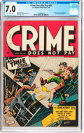 Golden Age (1938-1955):Crime, Crime Does Not Pay #35 (Lev Gleason, 1944) CGC FN/VF 7.0 Off-white pages....
