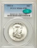 1951-S 50C MS66+ Full Bell Lines PCGS. CAC. PCGS Population: (170/5 and 33/1+). NGC Census: (3/0 and 0/0+). CDN: $750 Wh...