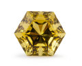 Gems:Faceted, Gemstone: Lemon Quartz - 15.13 Ct.. Brazil. 14.5 x 14.5 x12 mm. ...