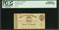 Obsoletes By State:Alabama, Montgomery, AL - State of Alabama 10c Jan. 1, 1863 Cr. 8. ...