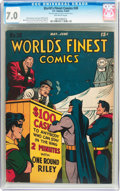Golden Age (1938-1955):Superhero, World's Finest Comics #28 (DC, 1947) CGC FN/VF 7.0 Off-white pages....