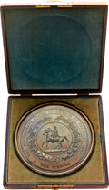 (c. 1872) The Great Seal of the Confederate States of America, Copper Electrotype Shell, With Case