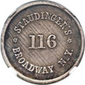 Civil War Merchants, 1863 Staudinger's, New York, NY, Fuld 630BS-1f, R.10 --Environmental Damage -- NGC Details. AU. ...
