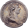 Betts Medals, 1783 Treaty of Versailles, Betts-612, Silver, AU58 NGC. ...