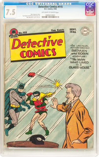 Detective Comics #115 (DC, 1946) CGC VF- 7.5 Off-white to white pages