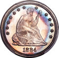 Proof Seated Quarters, 1884 25C PR66+ PCGS. CAC. Briggs 2-B....
